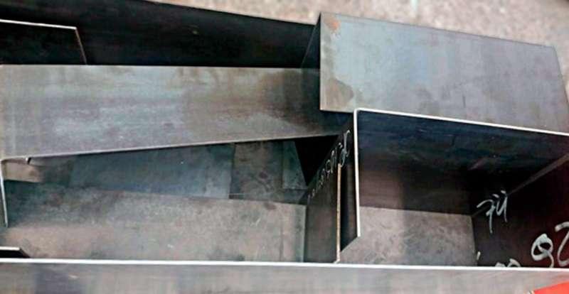 Chapa dobrada de aço