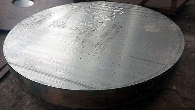Corte circular em chapas de aço