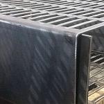 Chapa de aço dobrada